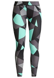 Evenandodd Active Basic Tights Black Electric Green