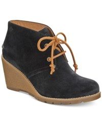 Sperry Women's Stella Prow Wedge Ankle Booties Women's Shoes Black