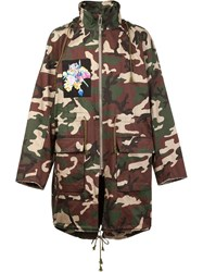 Christian Dada Nobuyoshi Araki Patch Camo Coat Green