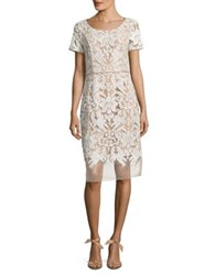 Nue By Shani Embroidered Knee Length Dress Champagne