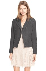 Women's Joie 'Seabrooke B' Brushed Cotton Moto Jacket