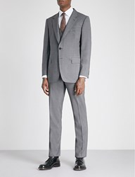 Gieves And Hawkes Regular Fit Wool Blend Three Piece Suit Grey