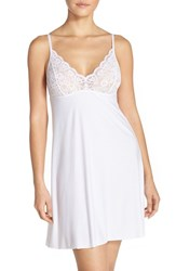 Women's Commando 'Butter' Lace And Stretch Modal Chemise White