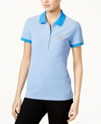 Tommy Hilfiger Cotton Polo Top Only At Macy's Pacific Ivory