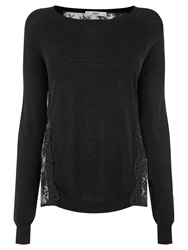 Oasis Gothic Floral Top Black