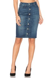 Mcguire Marino Button Front Skirt Blue