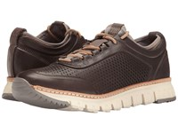 Cole Haan Zerogrand Perforated Sneakers Magnet Leather Ironstone Sunglow Natural Ivory Men's Lace Up Casual Shoes Brown