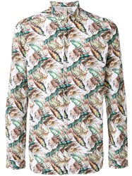 Dnl Leaf Print Shirt Multicolour