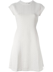 Emporio Armani Shortsleeved A Line Dress White
