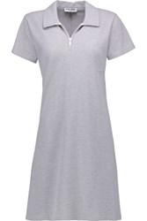Opening Ceremony Torch Cotton Blend Pique Mini Dress Light Gray