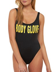 Body Glove 1989 High Cut One Piece Swimsuit Black
