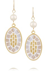 Lulu Frost Mosaic Gold Tone Earrings
