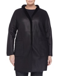 Marina Rinaldi Edison Reversible Leather Shearling Fur Jacket Women's