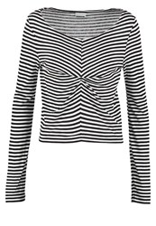 Noisy May Nmbella Long Sleeved Top Bright White Black