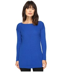 Vince Camuto Long Sleeve Ribbed V Textured Sweater Bold Cobalt Women's Sweater Blue