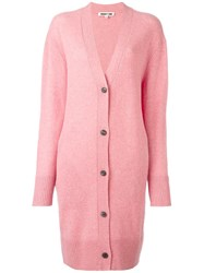 Mcq By Alexander Mcqueen Long V Neck Cardigan Pink Purple