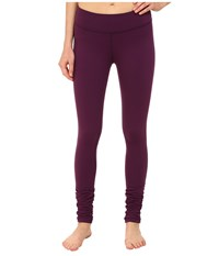 Beyond Yoga Gathered Long Leggings Imperial Violet Women's Casual Pants Black