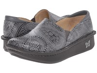 Alegria Debra Professional Wild West Ash Women's Slip On Shoes Gray
