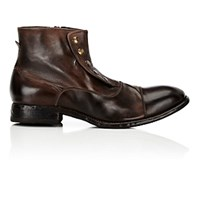 Harris Men's Cap Toe Spat Boots Dark Brown