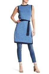 Cullen Long Belted Silk Blend Tabard Blue