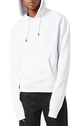 Topman Men's Aaa Collection Xxxxx Embroidered Oversize Hoodie White