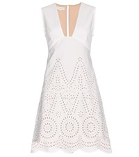 Stella Mccartney Aline Cotton Dress White