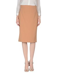 List Skirts Knee Length Skirts Women Camel