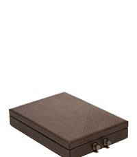 Ruuger Purist Leather Strongbox Clutch Grey