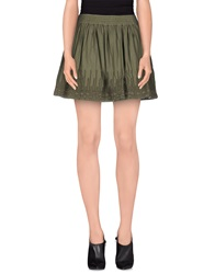 Guru Mini Skirts Military Green