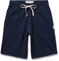 Reigning Champ Loopback Cotton Jersey Drawstring Shorts Blue
