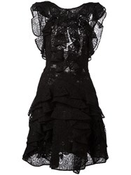 Ermanno Scervino Ruffle Low Back Dress Black