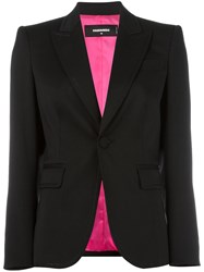 Dsquared2 Notched Lapel Button Blazer Black