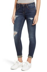 Vigoss Jagger Distressed Skinny Jeans Dark Wash