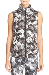 Women's Betsey Johnson Water Resistant Floral Print Puffer Vest