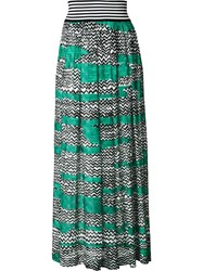 Missoni Long Printed Skirt Green