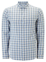 John Lewis Kin By Griddle Check Long Sleeve Shirt Blue