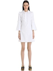 Vivetta Hands Ruffled Cotton Poplin Dress