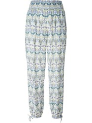 Tory Burch Mosaic Print Casual Trousers Multicolour