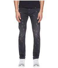 Marc Jacobs Skinny Leg Destruction Jeans Black Men's Jeans