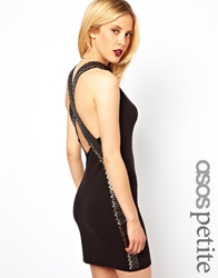 Asos Petite Safety Pin Cross Back Mini Dress