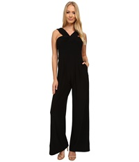 Adrianna Papell Draped Halter Neckline Jumpsuit Black Women's Jumpsuit And Rompers One Piece