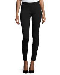 Tahari By Arthur S. Levine Elasticized Ponte Slim Fit Pants Black