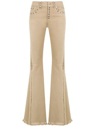 Andrea Bogosian Panelled Jeans Nude And Neutrals