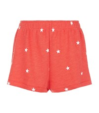 Wildfox Couture Football Star Golden Shorts Red