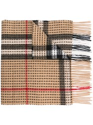 Burberry Checked Scarf Brown
