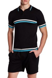 Parke And Ronen Jet Age Polo Black