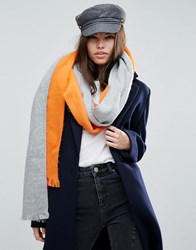 Asos Deconstructed Scarf In Colour Block Multi