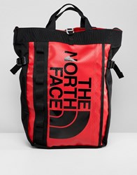 The North Face Base Camp Tote Bag In Red