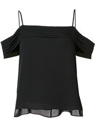 Alexander Wang T By Cold Shoulder Top Black
