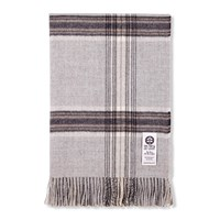So Cosy Ebbe Baby Alpaca Wool Throw 130X200cm Silver Grey Check